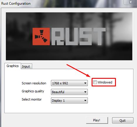 Как сделать Rust на весь экран