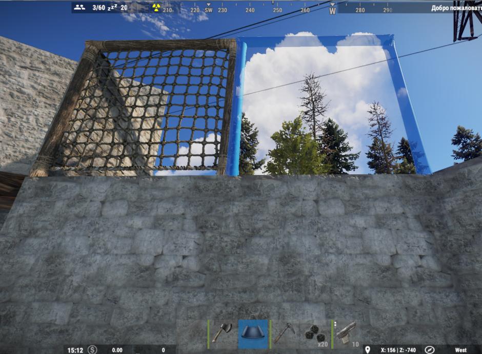 Rust как залезть на крышу без лестницы